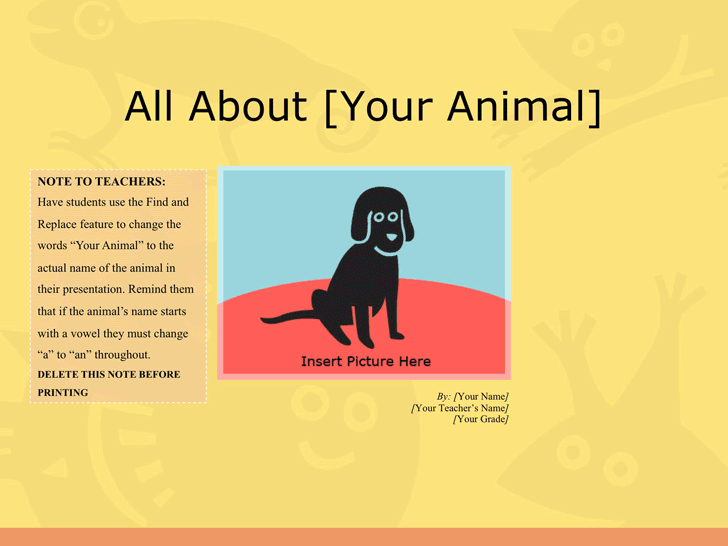 Animal Report Template 1