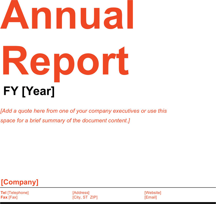 Annual Report Template 2