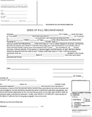 Deed of Reconveyance Form