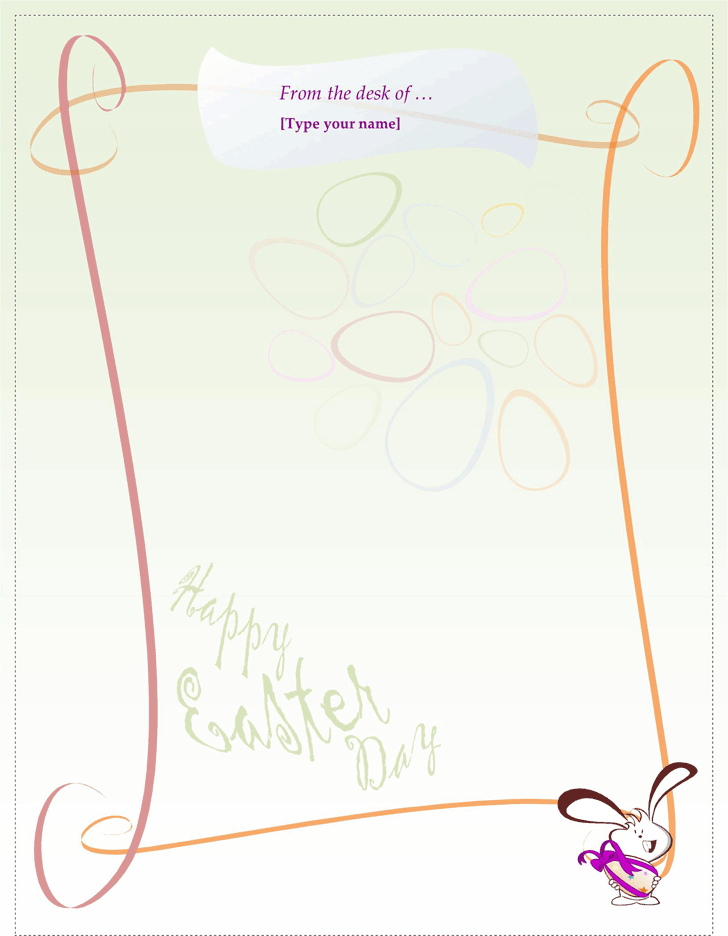 Easter Bunny Letter Template 1