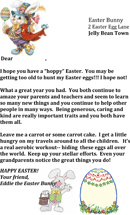 Easter Bunny Letter Template