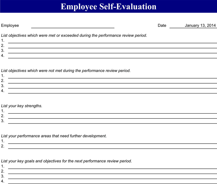 Employee Evaluation Form 4