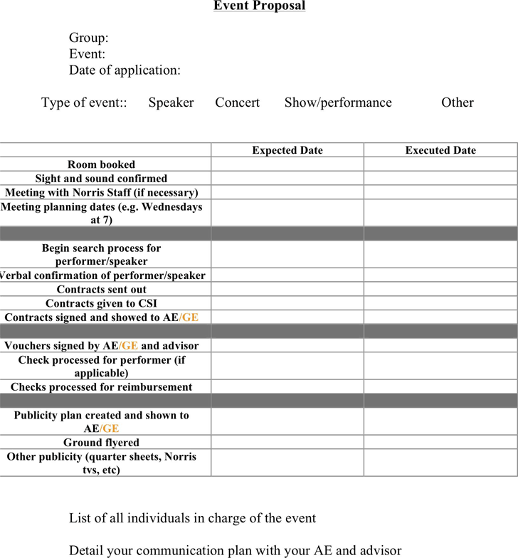 Event Proposal Template 1