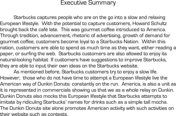 Executive Summary Example 2