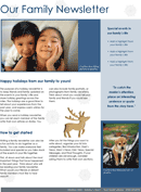 Family Newsletter Template