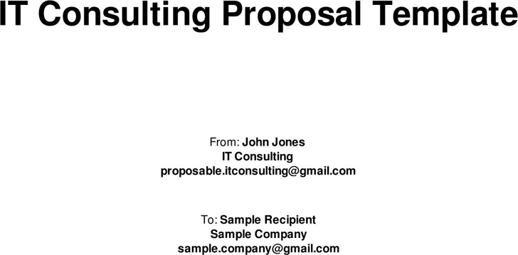 IT Consulting Proposal Template