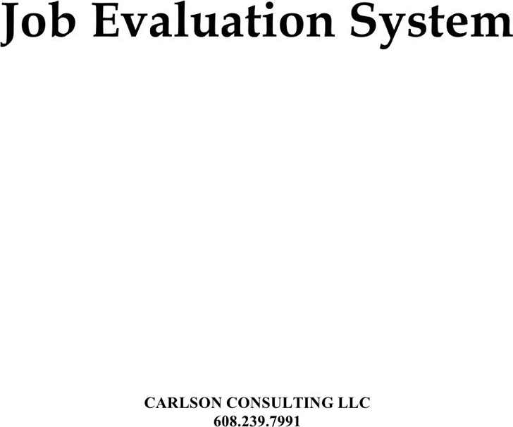 Job Evaluation Form 3