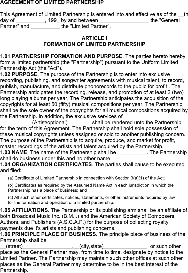 Limited Partnership Agreement 3