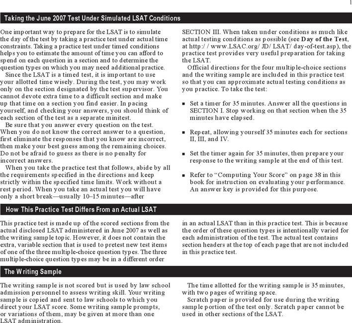Testing Estimation Template: Free LSAT Sample Questions Template - PDF