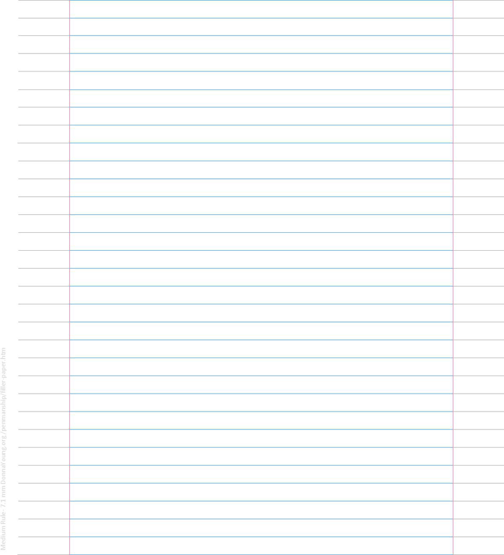 Medium Ruled Filler Paper - 7.1 Mm