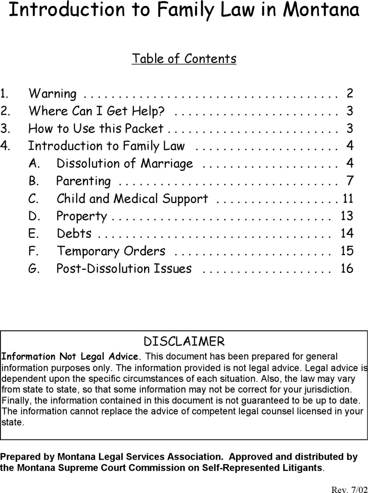Montana Joint Petition for Dissolution of Marriage with Children Packet Form