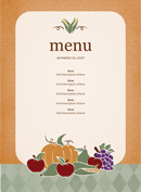Party Menu Template