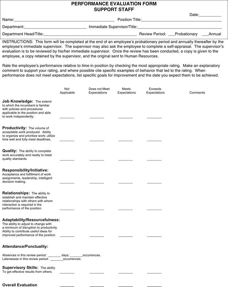 Performance Evaluation Form 3
