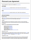 Personal Loan Agreement Form
