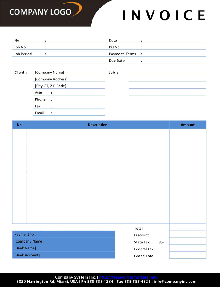 Photography Invoice 2