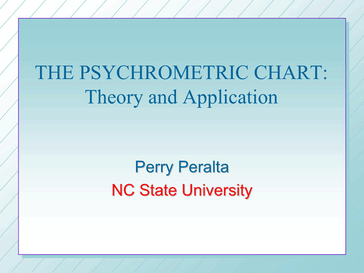 Psychrometric Chart: Theory And Application