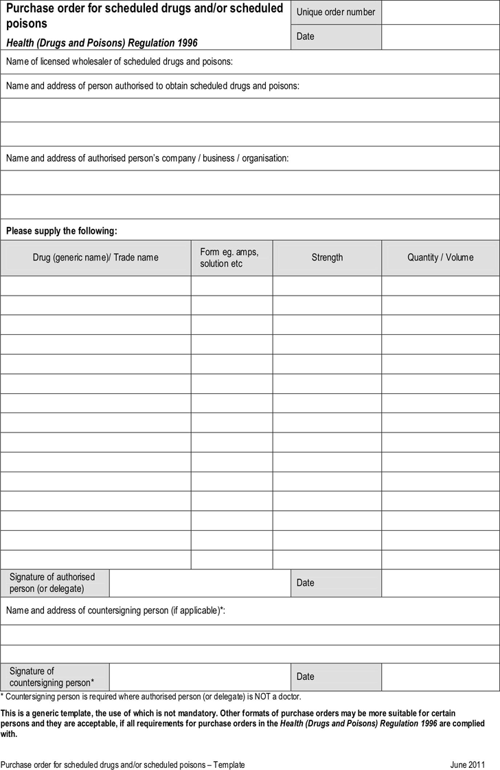 Purchase Order Template 2