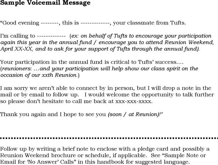 Sample Voicemail Message