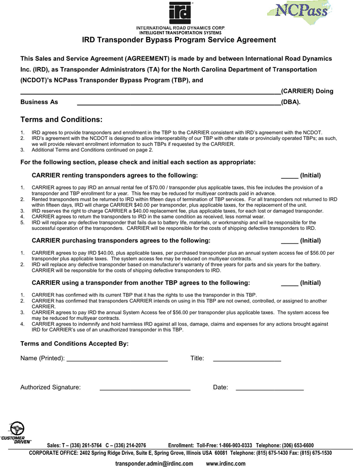 Service Agreement Template 3