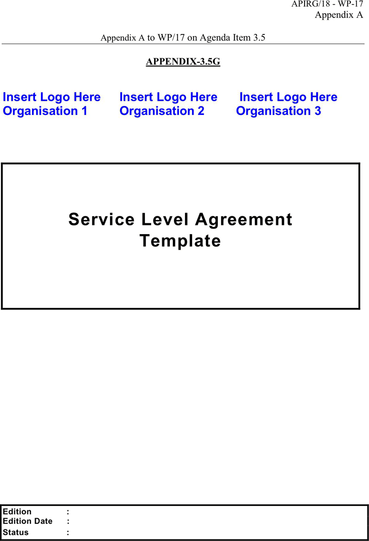 Service Level Agreement Template 2