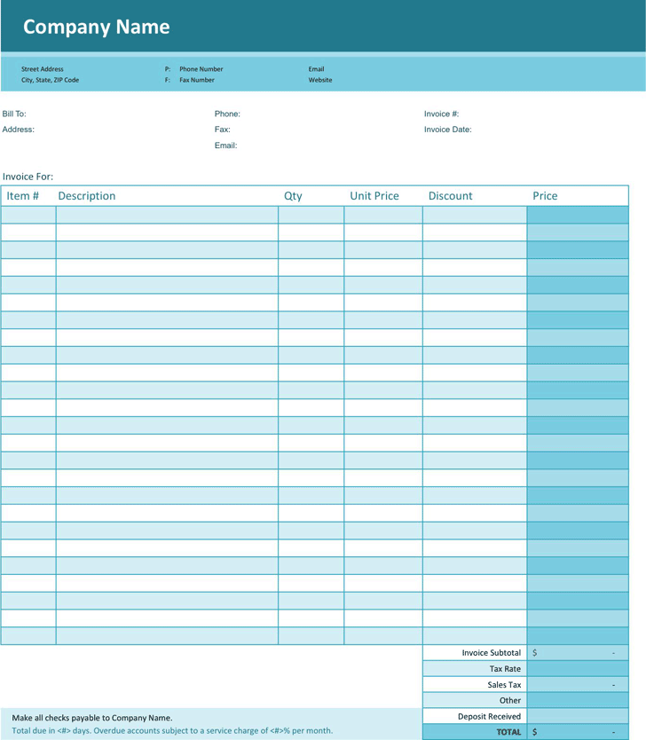 Simple Invoice Template 1