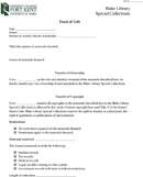 Deed of Gift Form