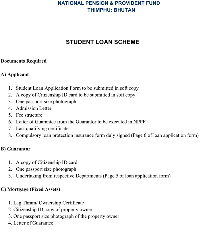 Students Loan Application Form 1