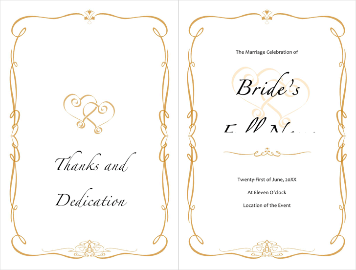 Wedding Program Template 2